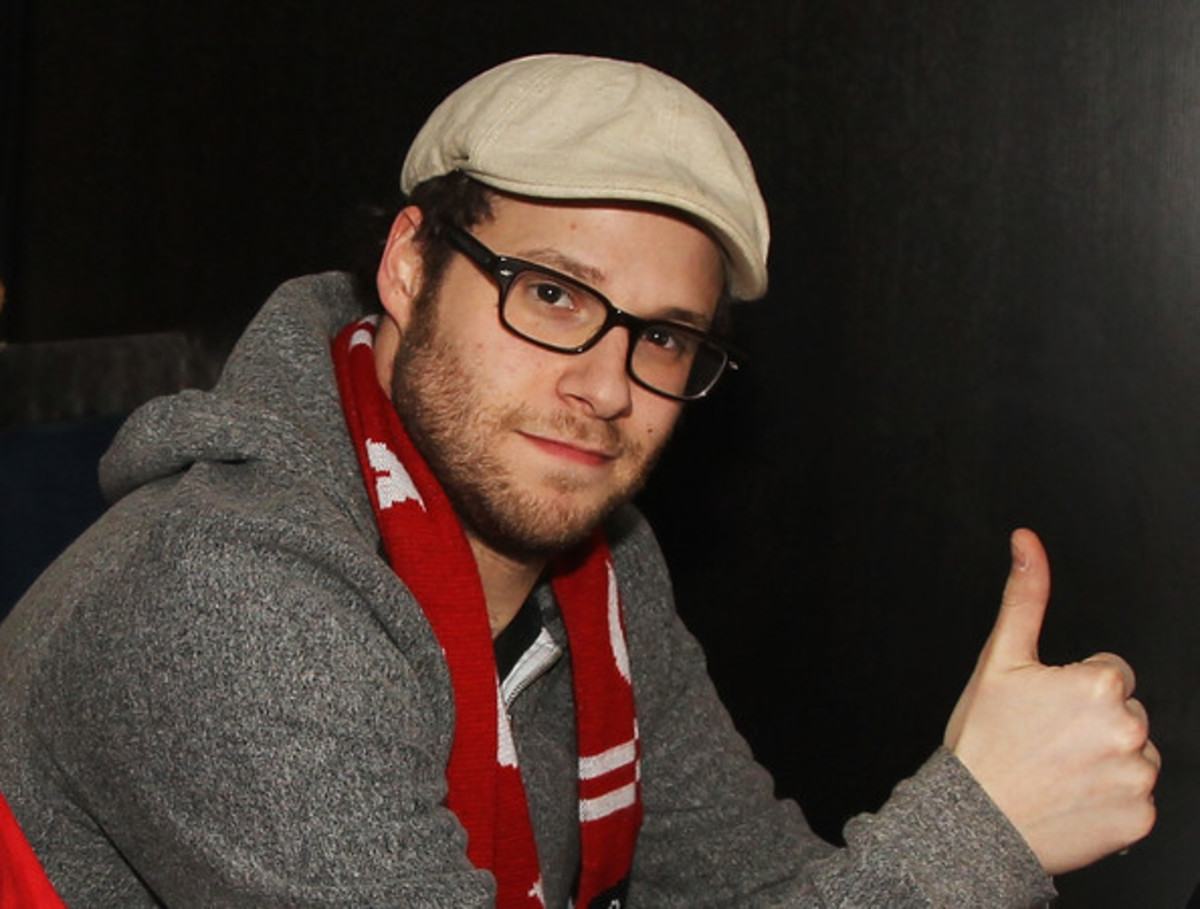 Seth Rogen at Canada Hockey Place in Vancouver