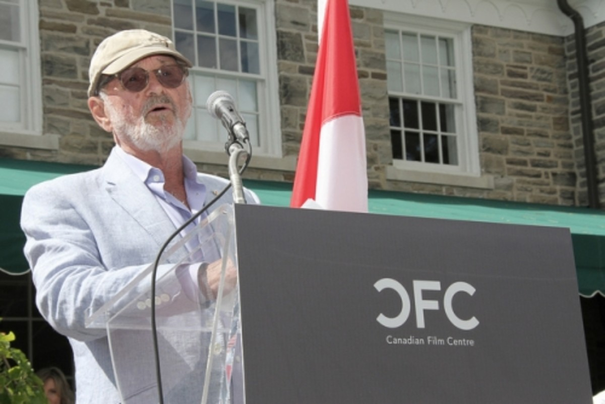 Norman Jewison founded the Canadian Film Centre, he hosts a BBQ every year