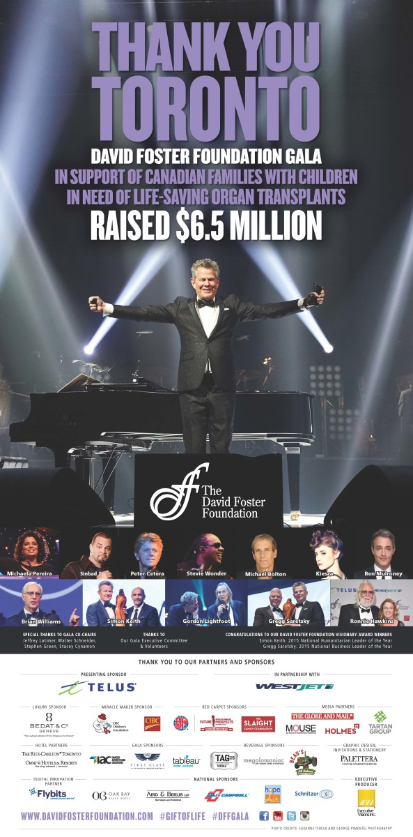 an annual star studded fund raising event hosted by David Foster for his charity foundation (based in Victoria, BC)