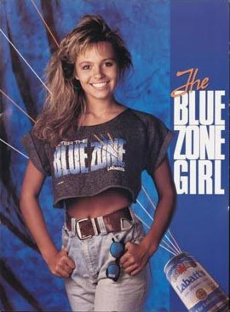 Pamela Anderson was a Blue Zone girl for Labatt's beer in Canada