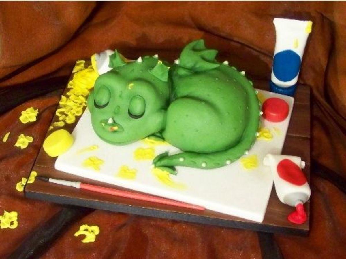 Baby Dragon Cake Photo