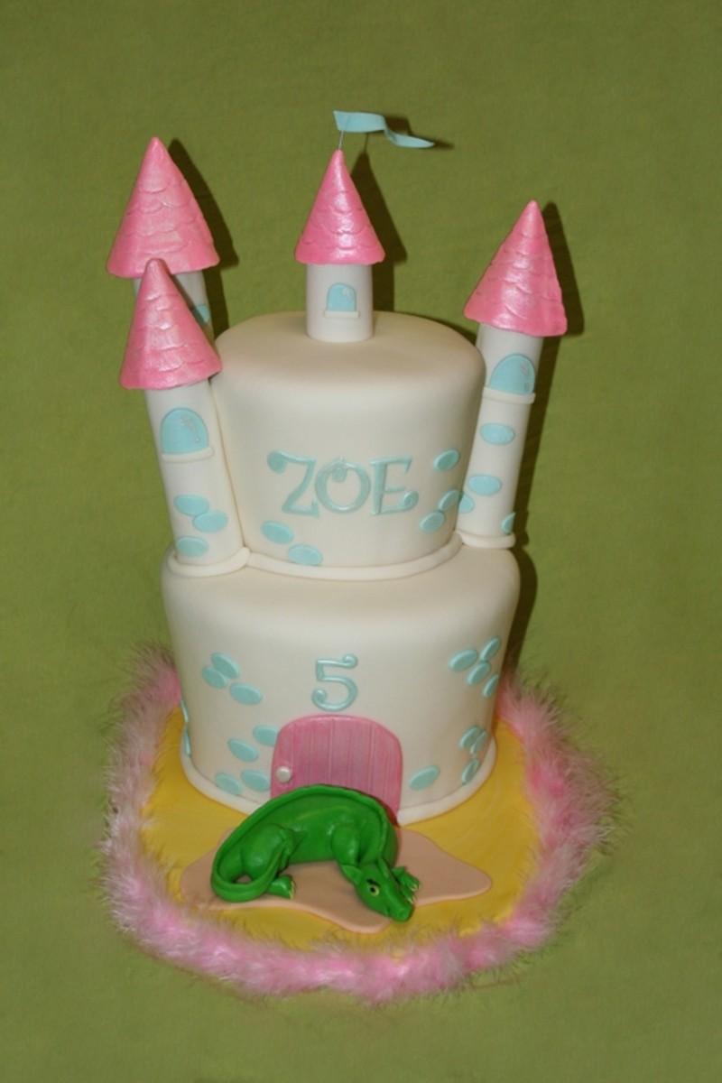 Princess Castle & Dragon Birthday Cake