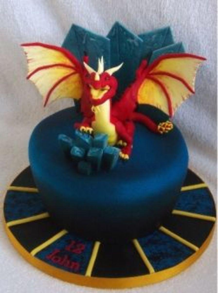 Warcraft Dragon Cake