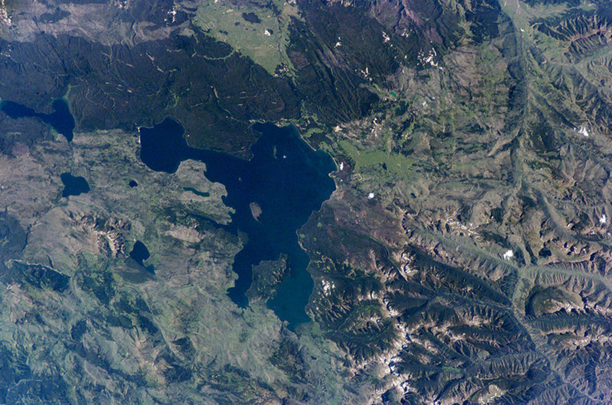 Yellowstone Lake From Space