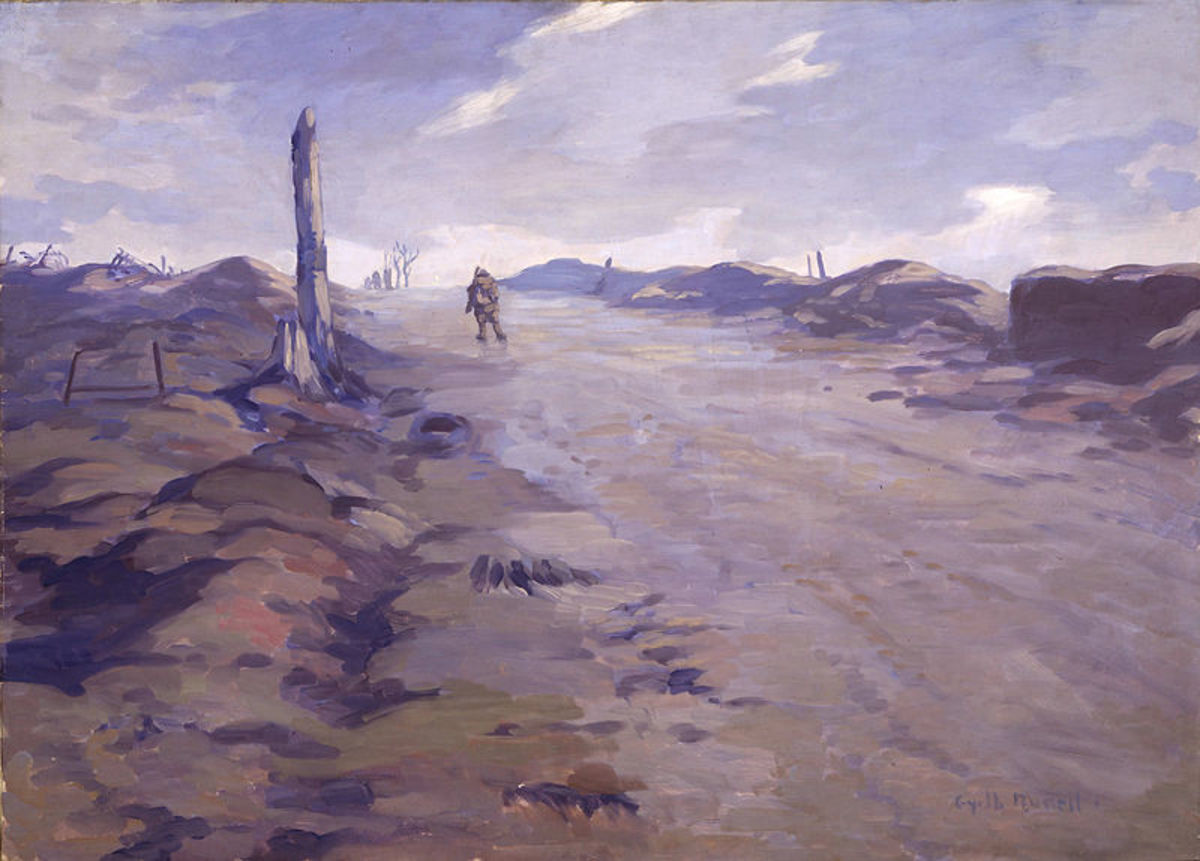 The Crest of Vimy Ridge by Gyrth Russell. (1918) Image courtesy of Wiki Commons