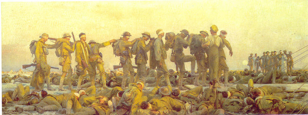 Gassed by John Singer Sargent. Image courtesy of Wiki Commons