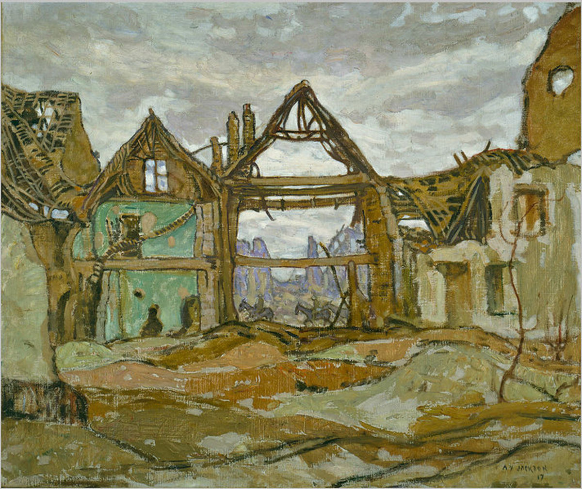 House of Ypres by A. Y. Jackson, 1917. Image courtesy of Wiki Commons