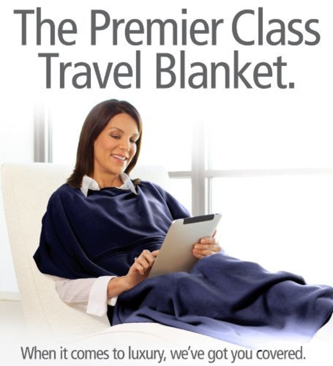 TravelRest 4-in-1 Premier Class Travel Blanket
