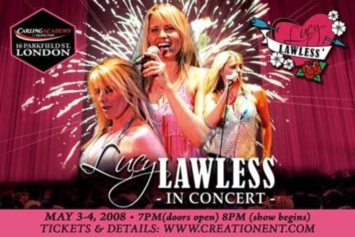 Lucy Lawless Bad Girls in Heaven Concert Promotional Postcard