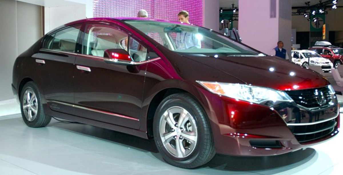 Honda FCX Clarity. Hydrogen can be used just like traditional gasoline for powering engines.