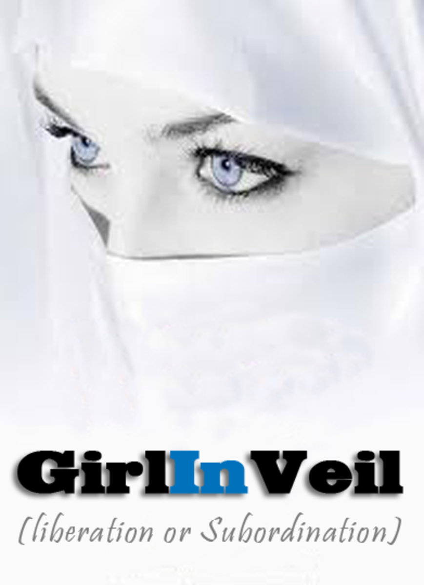 Hijab a girl in veil