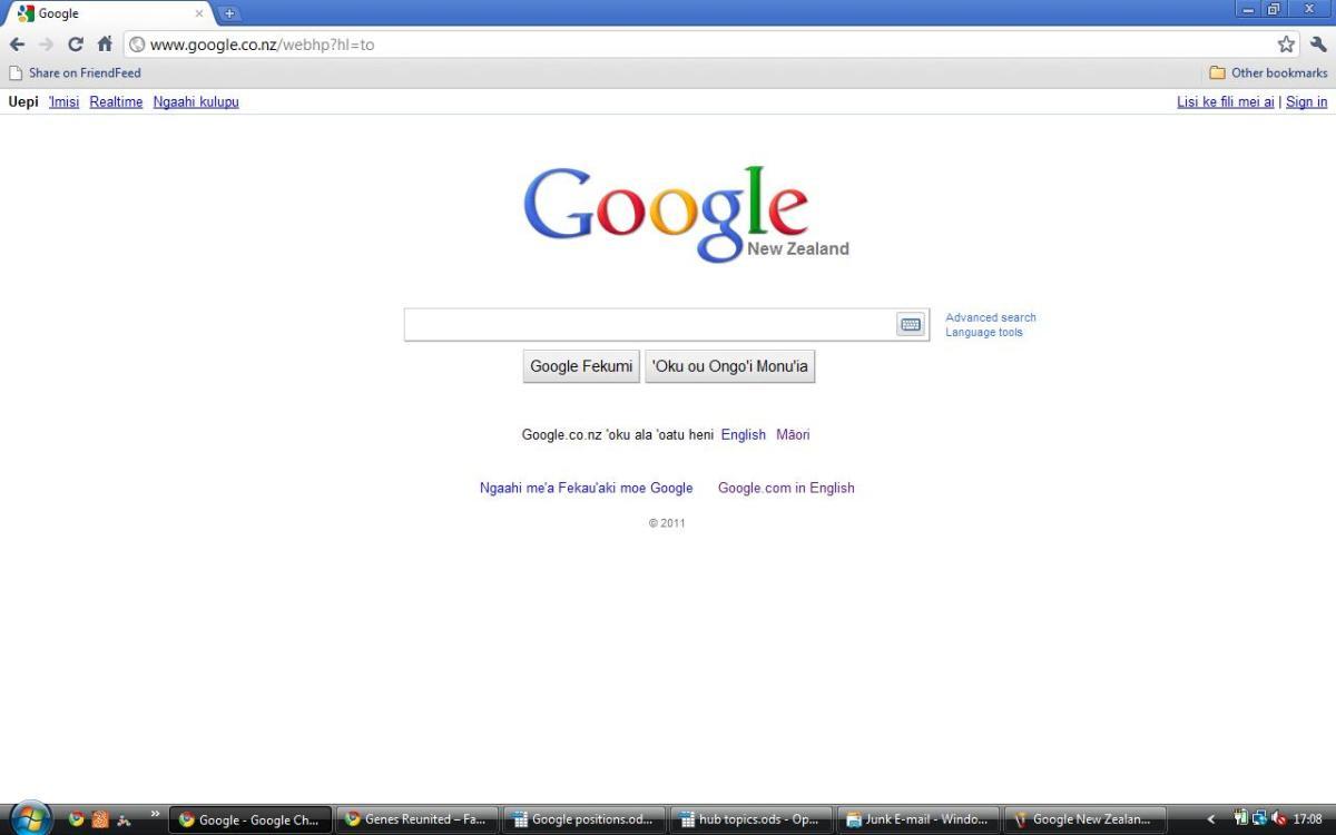Google New Zealand in Tongan