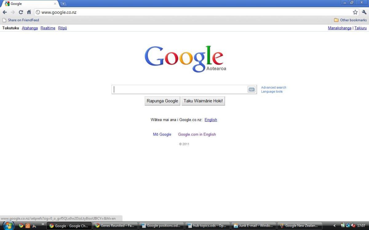Google New Zealand in Maori