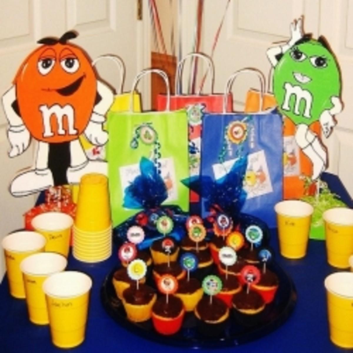 M & M Birthday Party