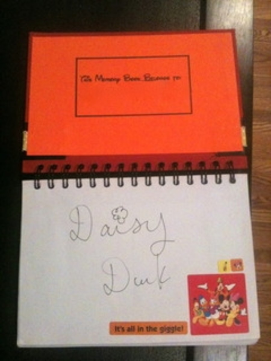 Inside Mickie_G's Autograph Book made for the grandkids