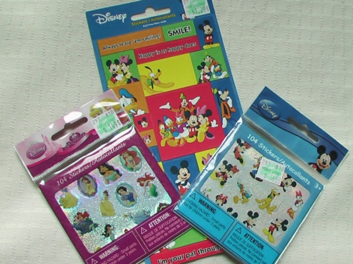 More Disney stickers to use on pages in the book.