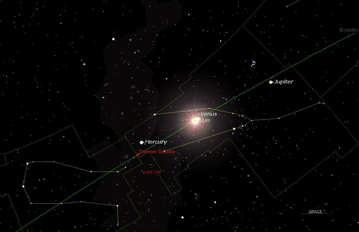The Jun 6, 2012 Venus Inferior Conjunction with a visible crossing of the sun by Venus; a rare event. However, this is not in the Heart of Sky