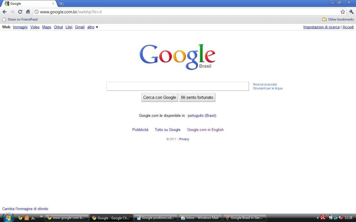 Google Brasil in Italian