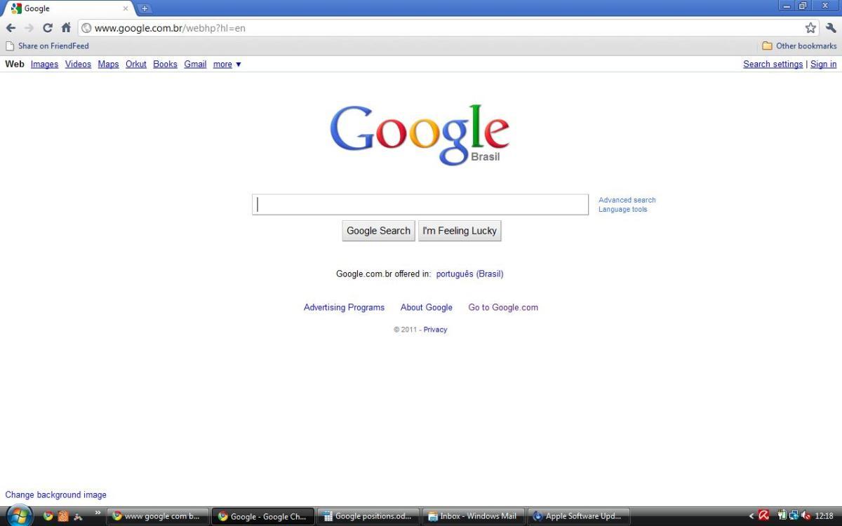 Google Brazil in English
