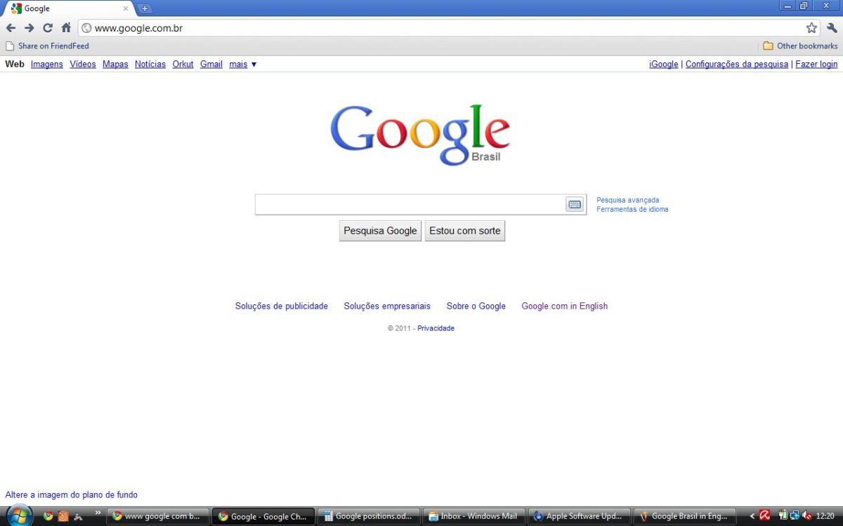 Google Brasil in Portuguese