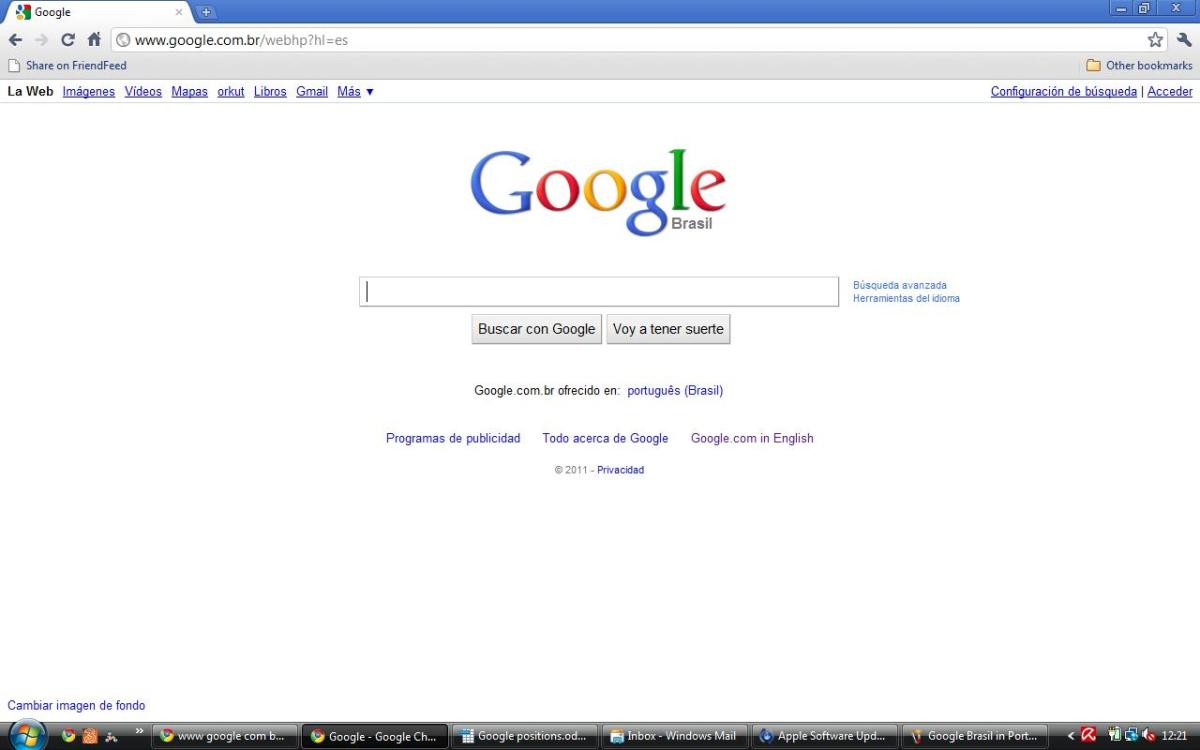 Google Brasil in Spanish