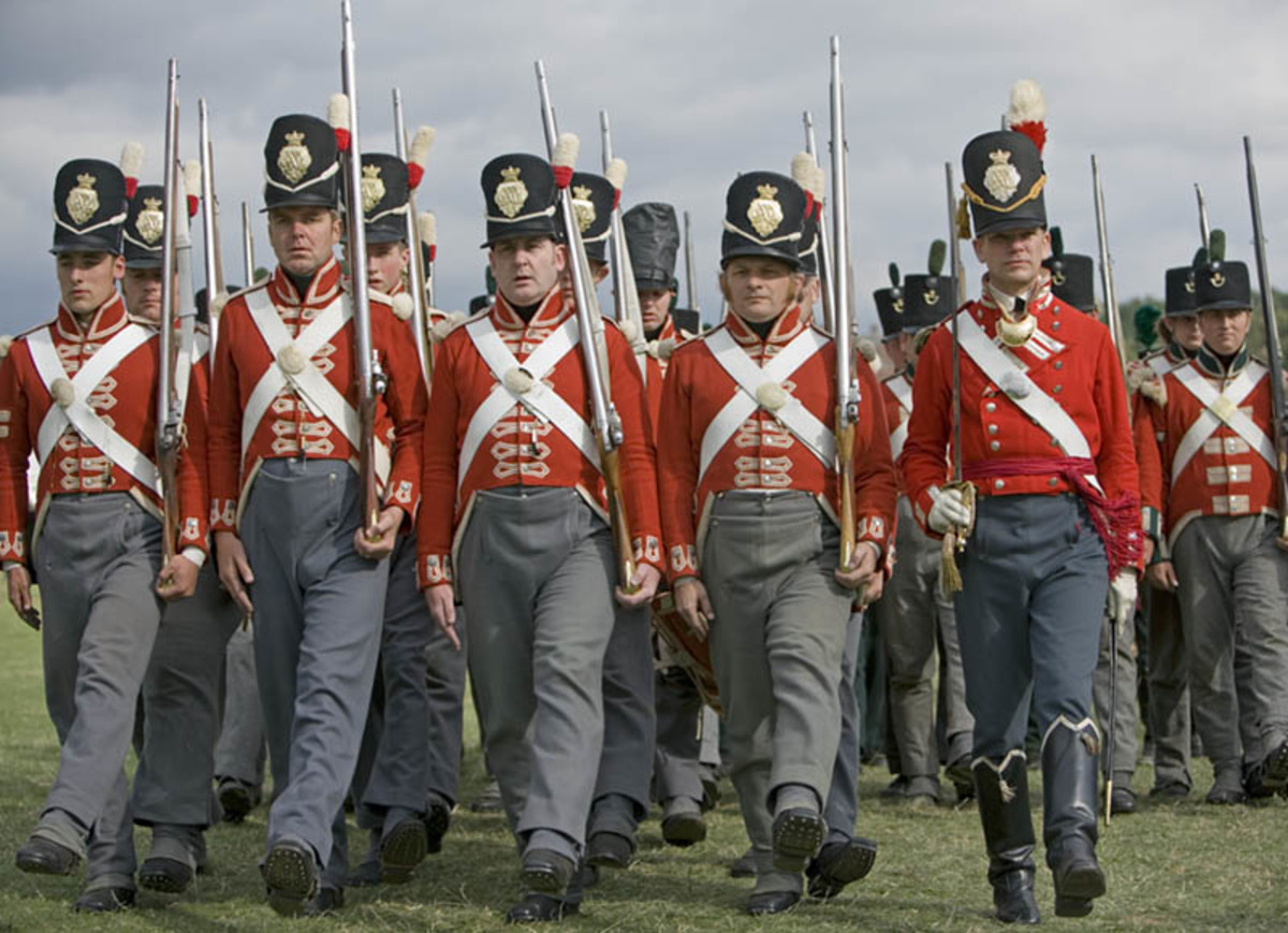 Wellingtons British troops in Red and Grey