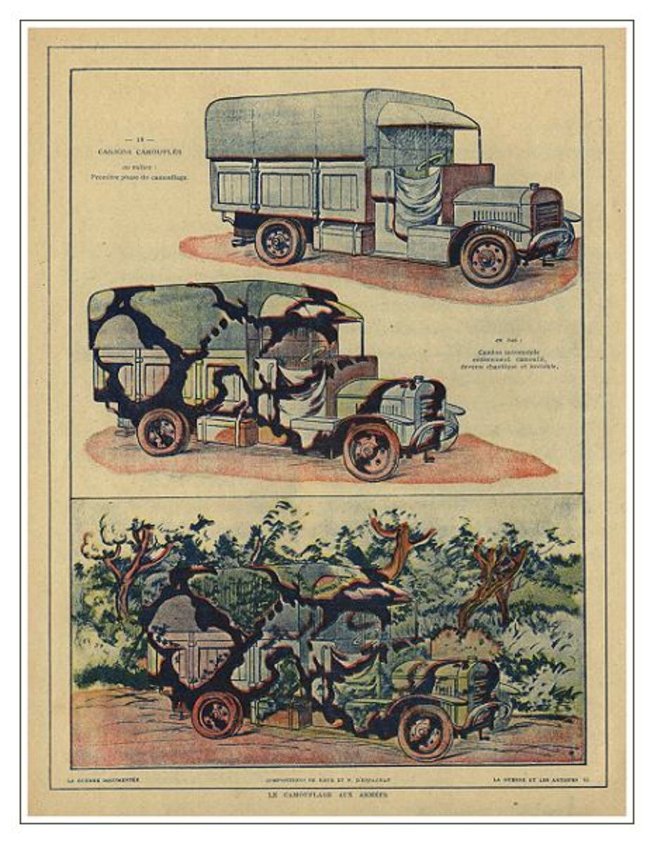 The nature and use of camouflage in World War One