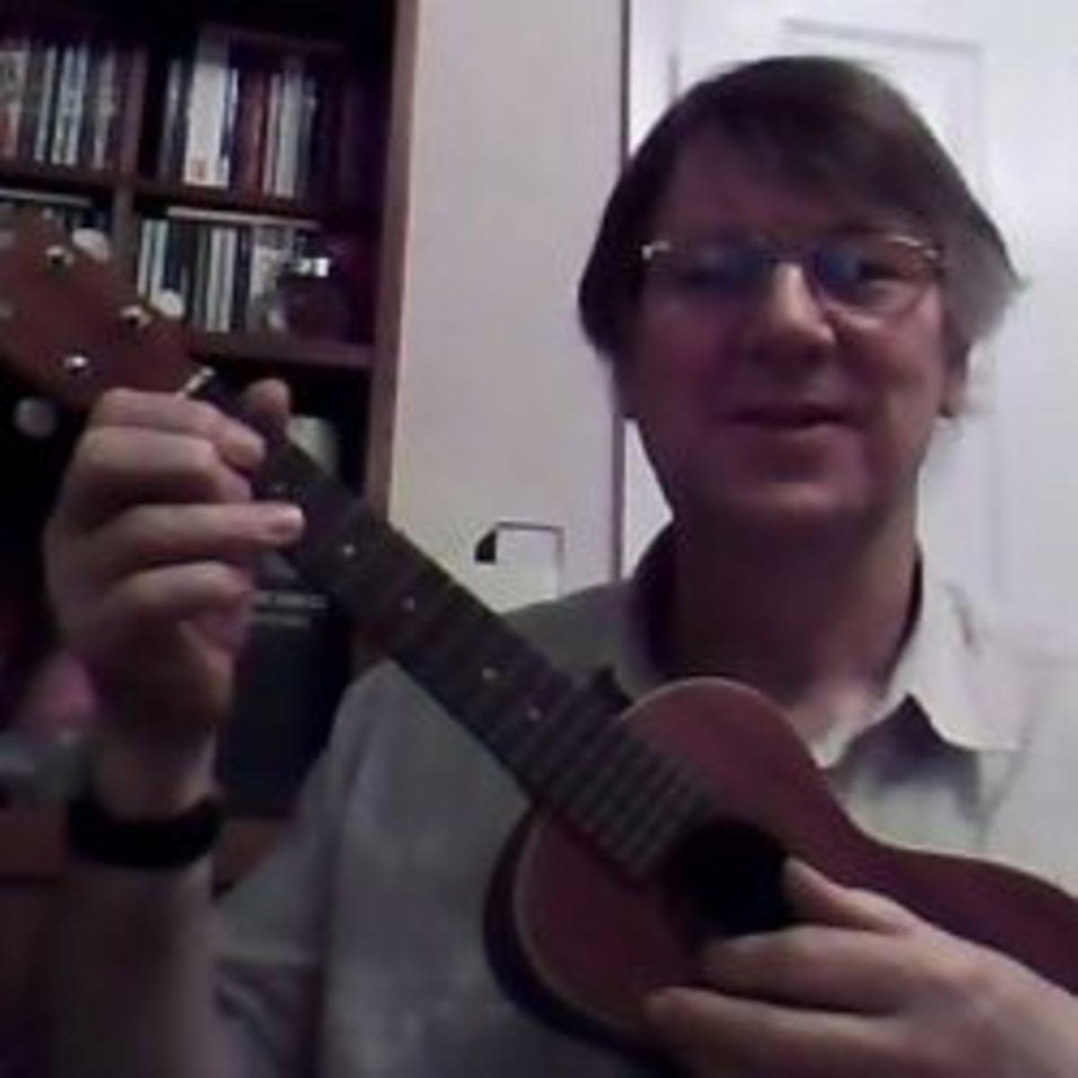 singing to my ukulele