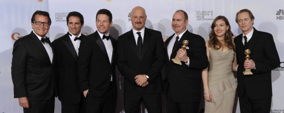 The Production Team at Golden Globes - with Kelly Macdonald and Steve Buscemi