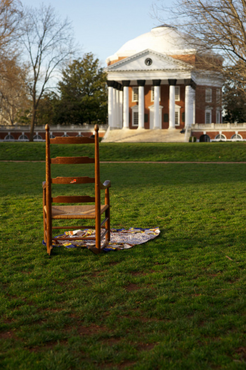 Old-fashioned wooden rocking chairs were originally made as outdoor rocking chairs for the garden or lawn.