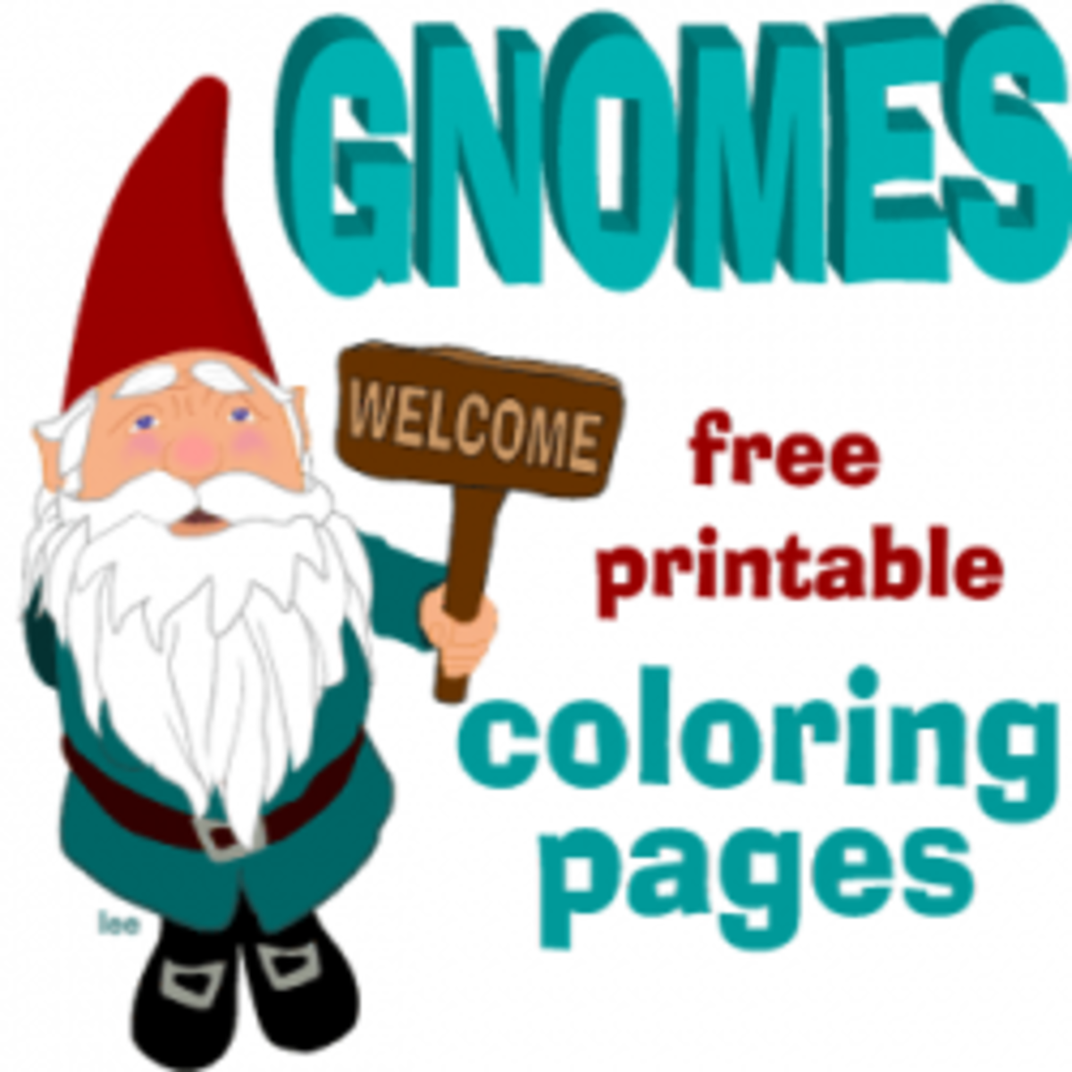 Gnome Clip Art: Gnome Coloring Pages