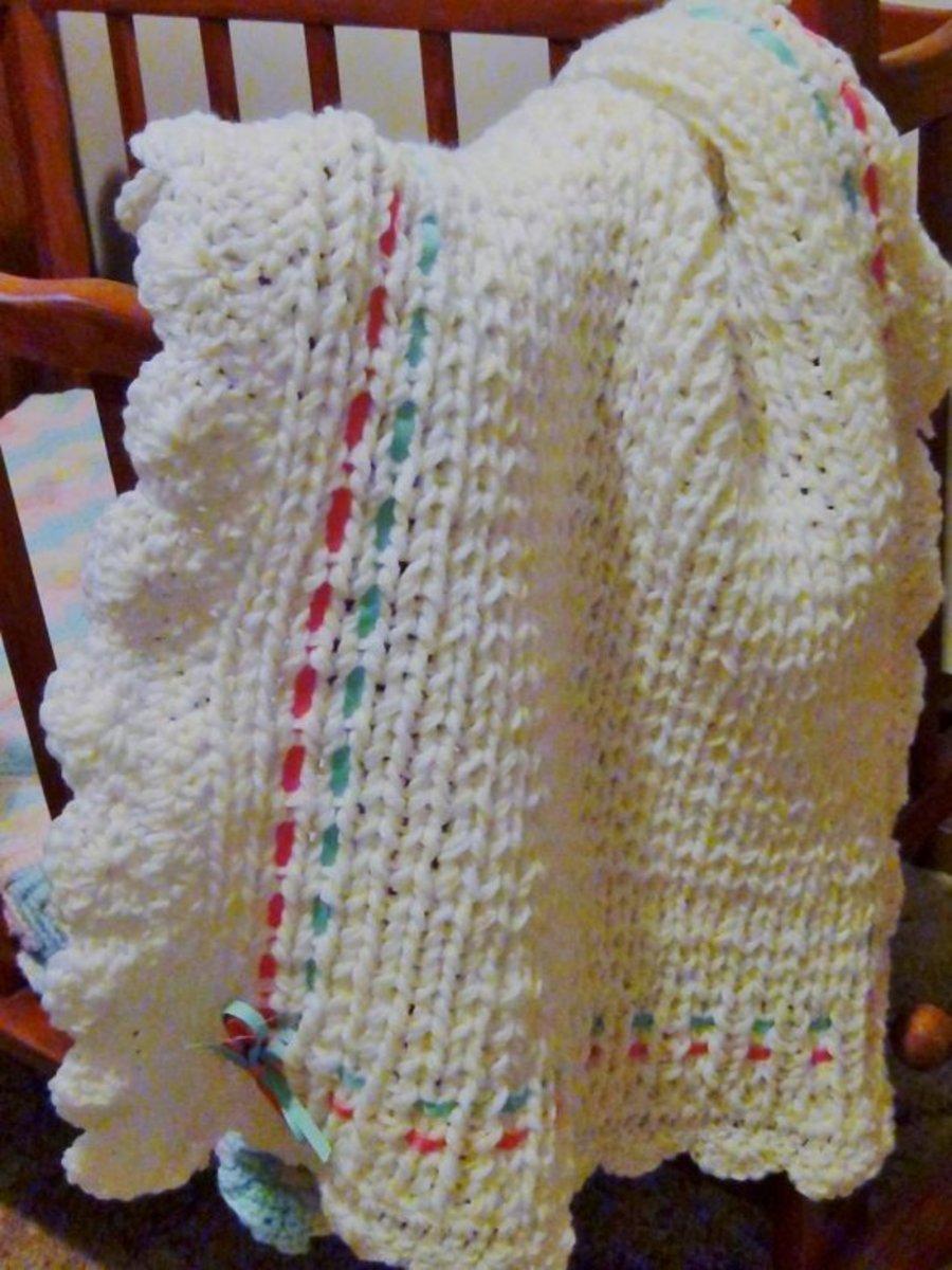 Knifty Knitter Blanket for Baby