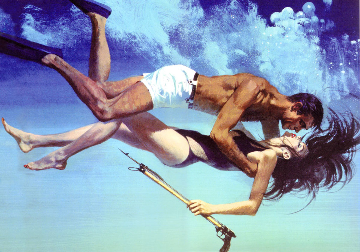 Unused concept art for Thunderball ' Bond & Domino'