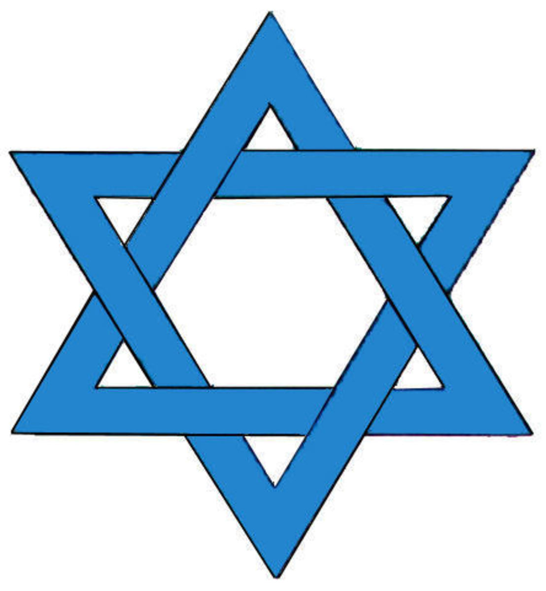The Star of David, an emblem of Israel