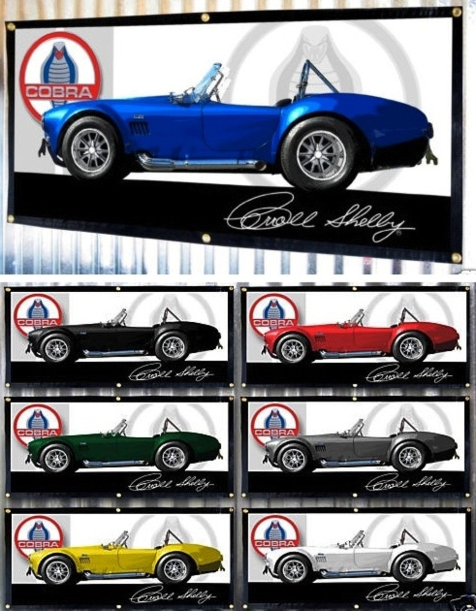 1965 Shelby Cobra 427 Banners by Carroll Shelby