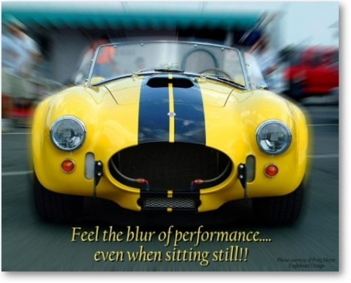 Shelby Cobra Feel The Blur Poster by Stan Meyer Jr.