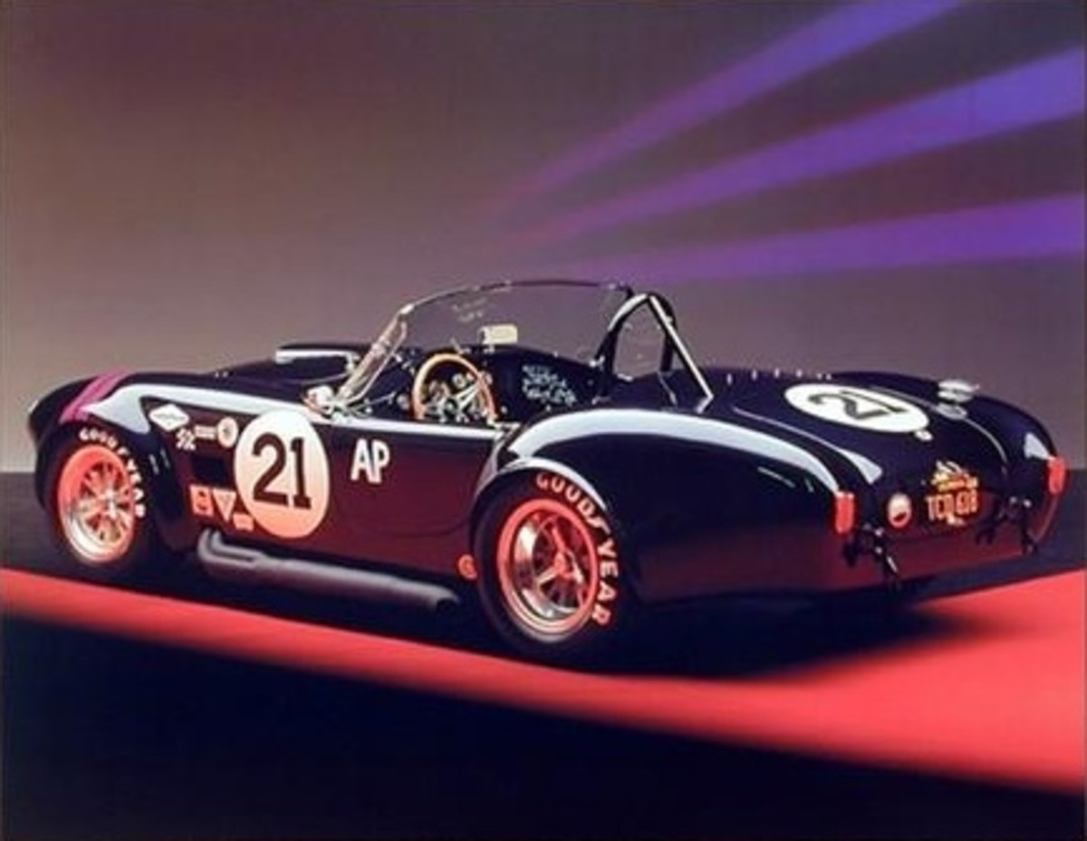 1966 Shelby Cobra Race Car Poster by Ron Kimball