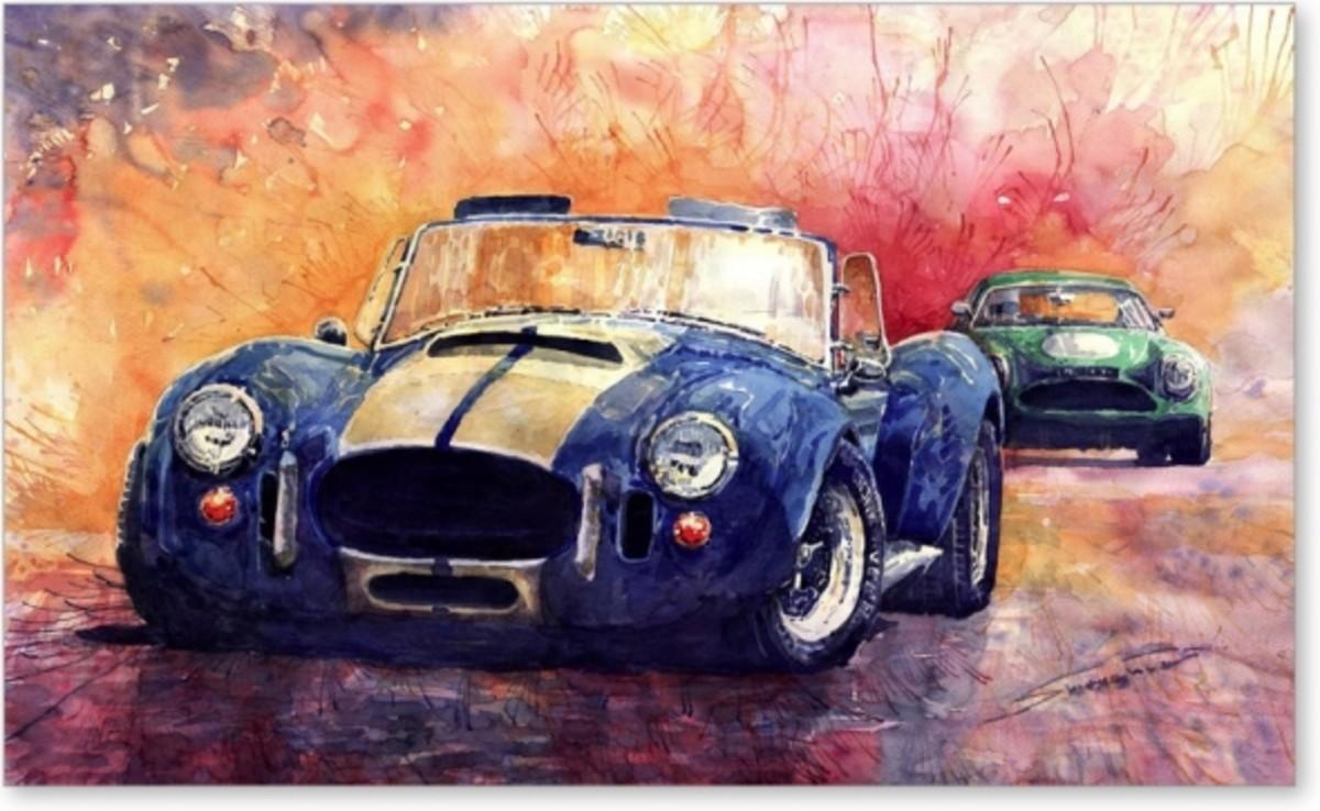 AC Cobra Shelby 427 Fine Art Print by Yuriy Shevchuk