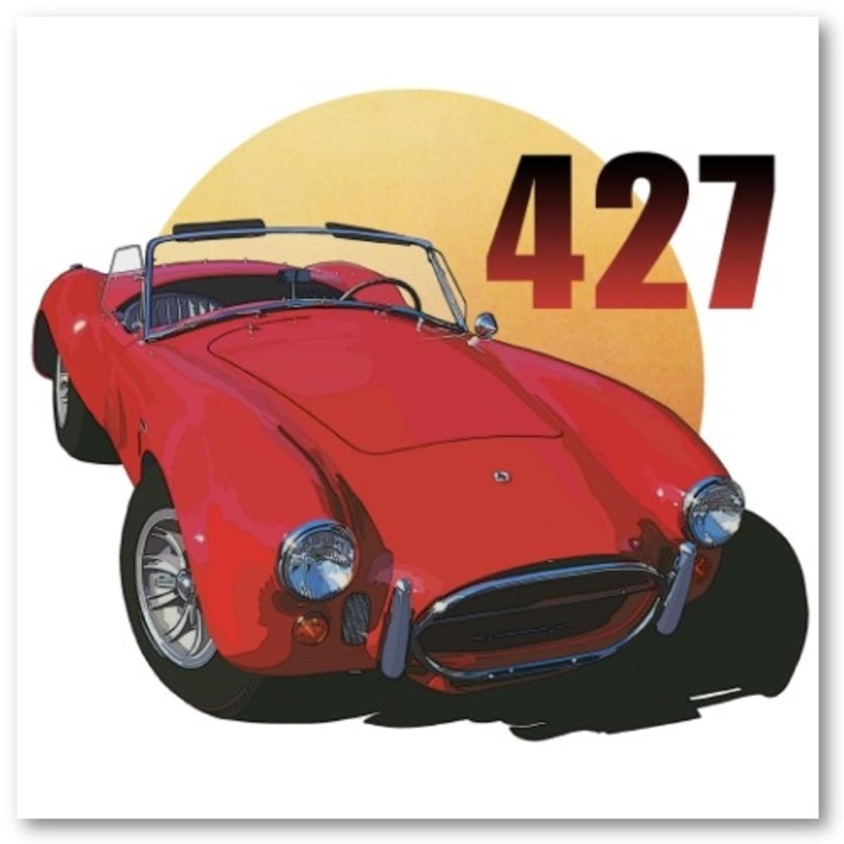 427 Cobra Illustration by Richard Browne