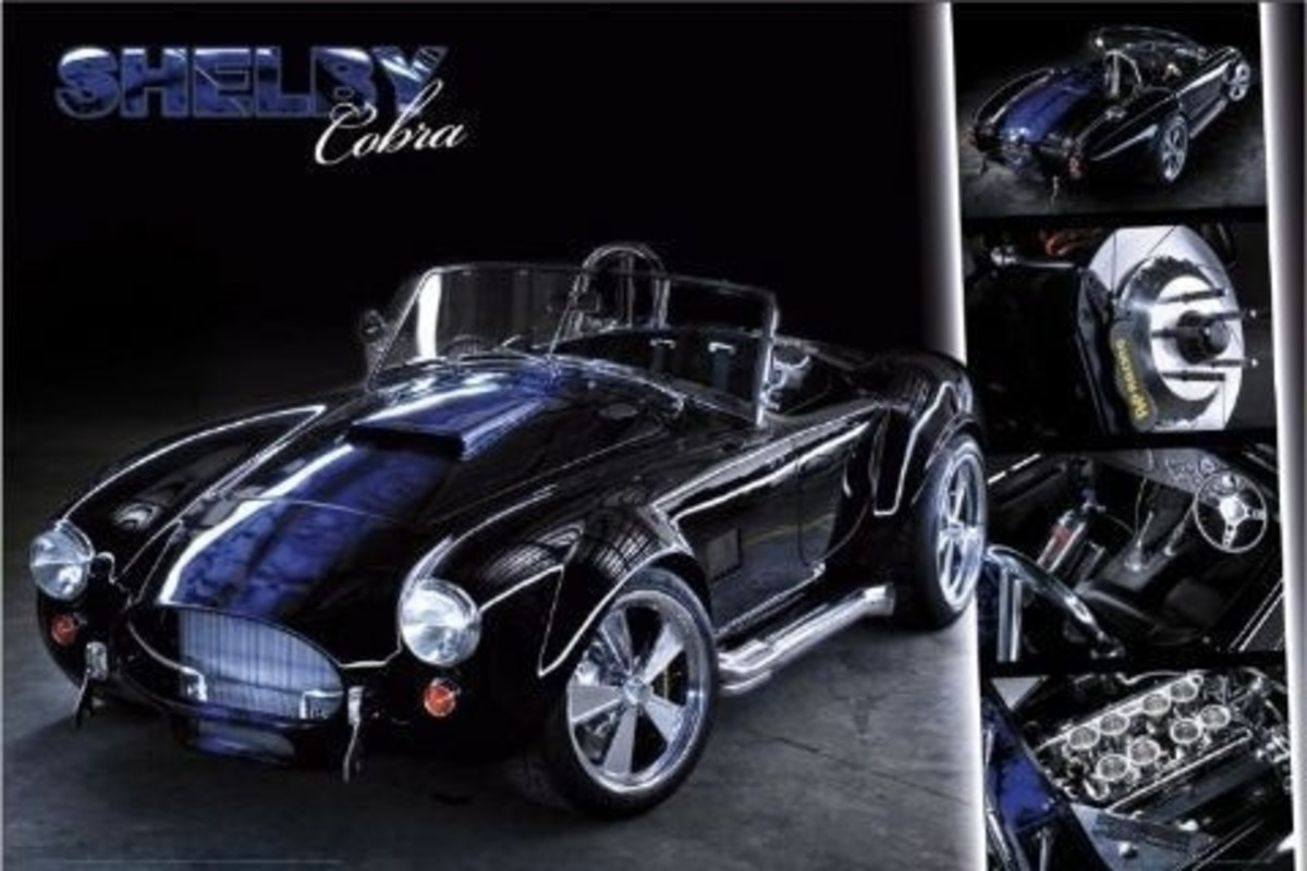 Shelby Cobra Poster by Easton Chang