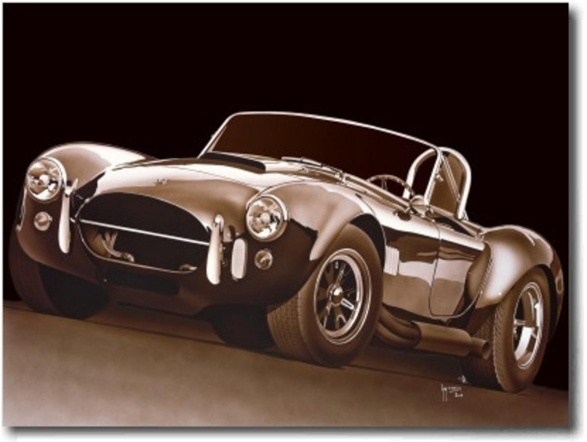 427 Cobra Under the Light Poster by Guy Tempier