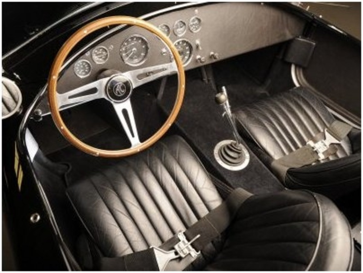 1966 AC Cobra 427 Interior Photographic Poster Print by S. Clay