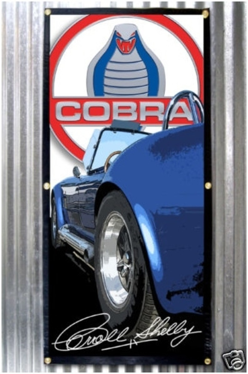 1965 Shelby Cobra 427 Banner by Carroll Shelby