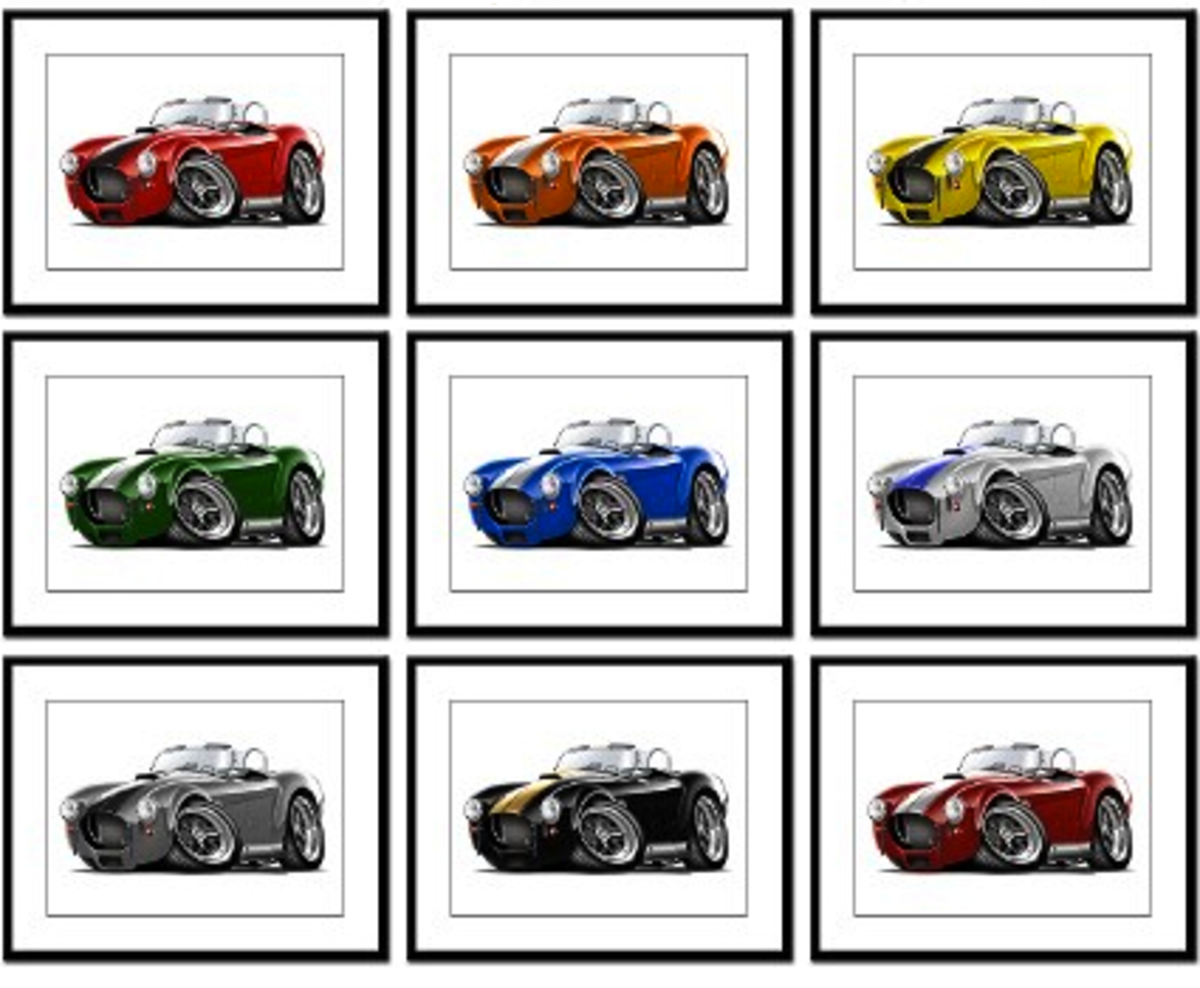 Shelby Cobra Framed Prints by Sues Muscle Cars at CafePress