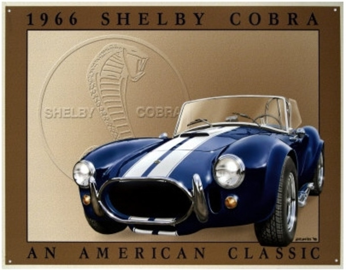 1966 Shelby Cobra An American Classic Tin Sign by Chuck Hutchings