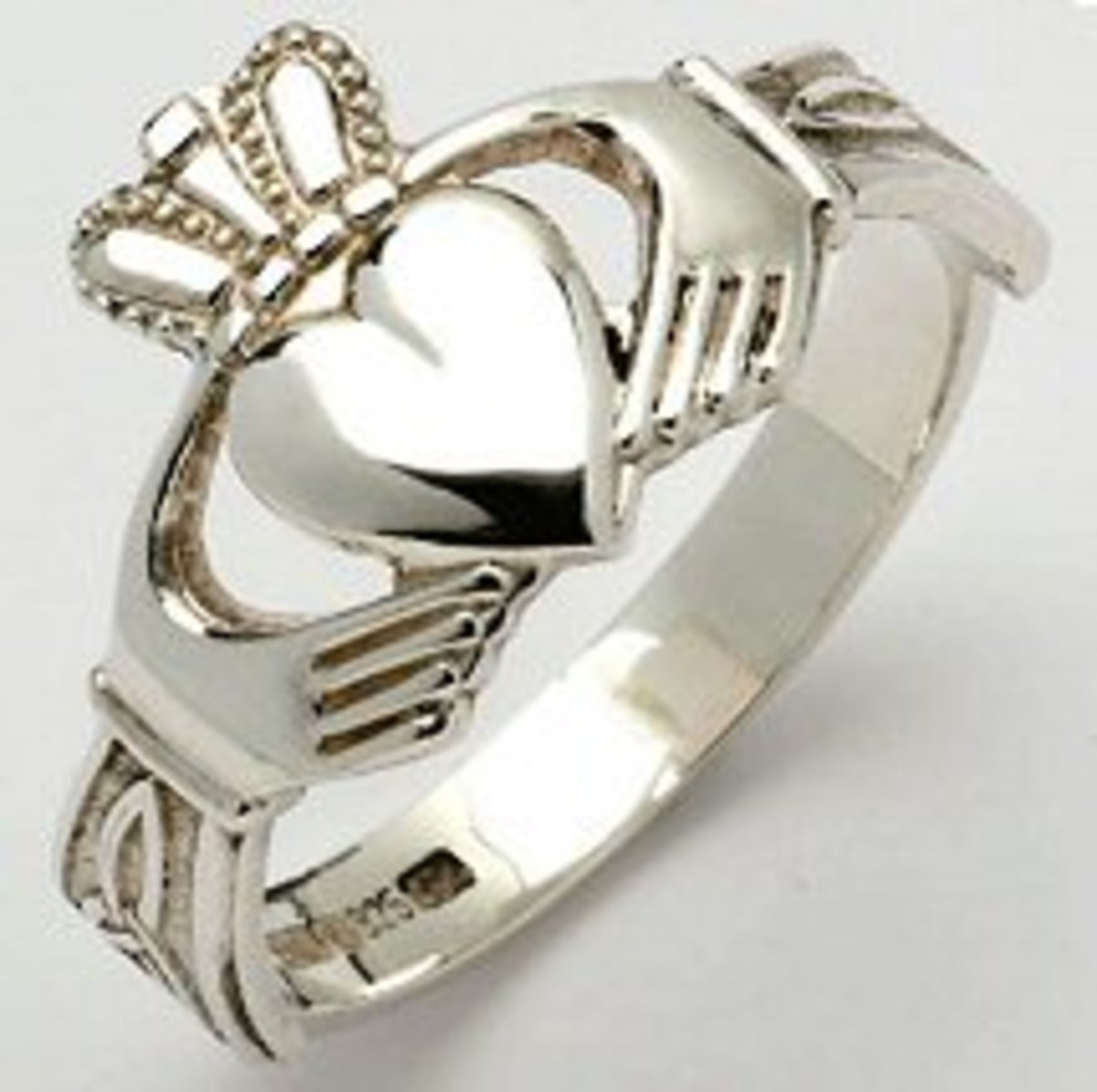 Claddagh rings represent friendship, love and loyalty