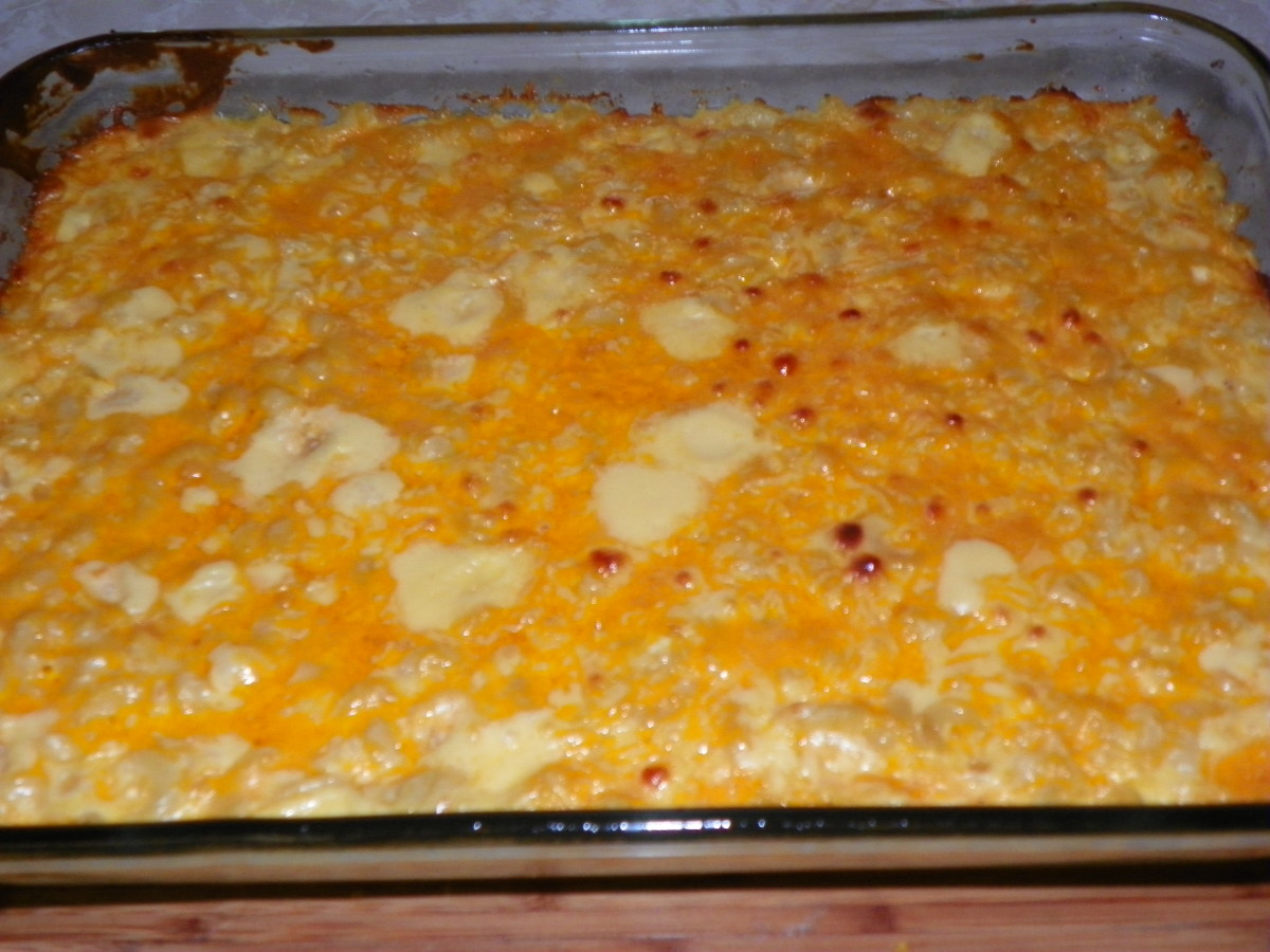 Just the slightest browning says this Mac N Cheese is ready!