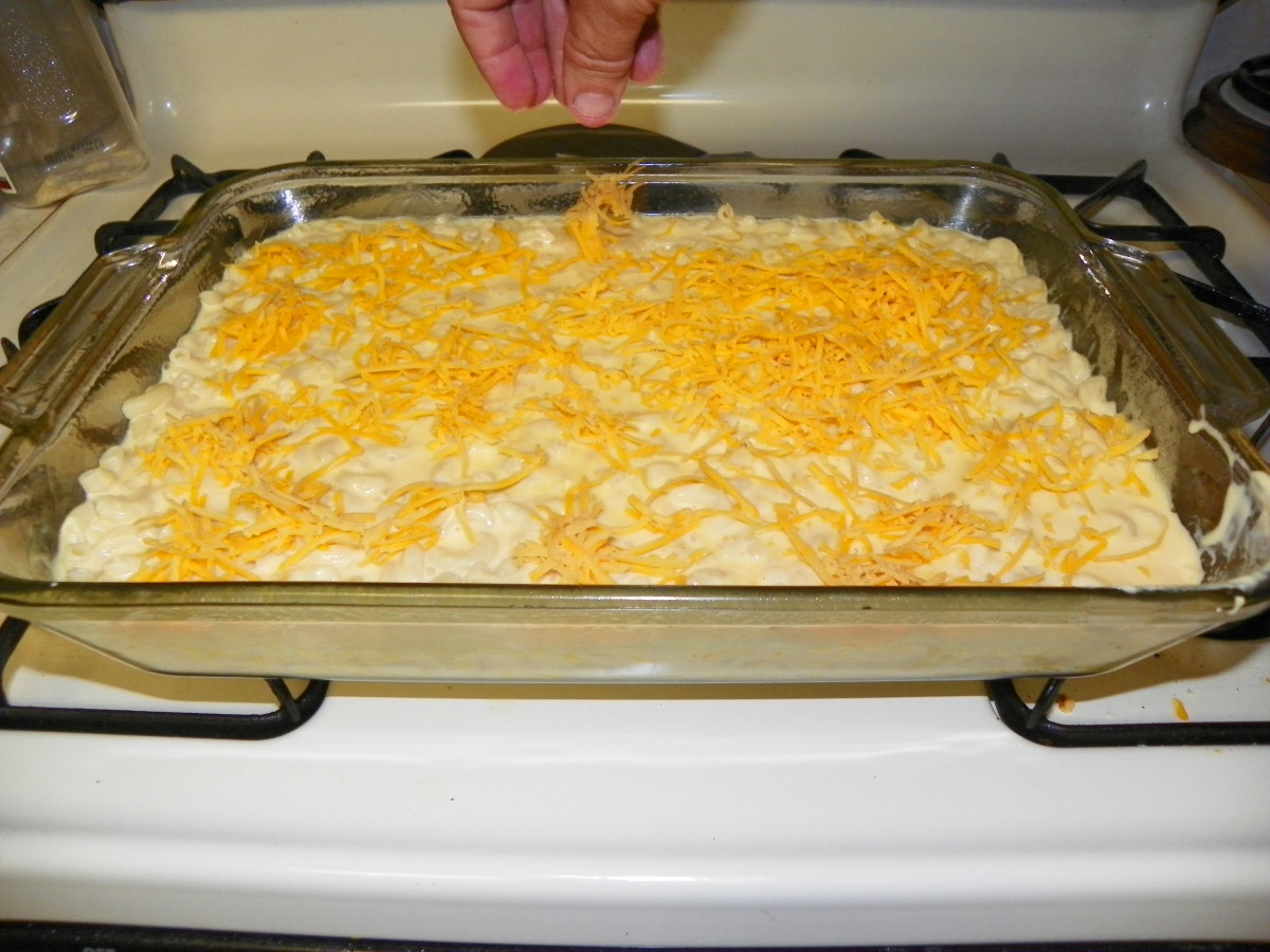Just a light layer of Sharp Cheddar is needed.