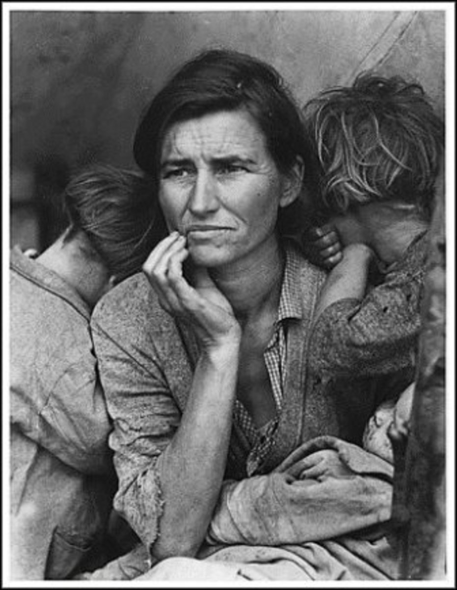 Mother of Seven Children During the Great Depression