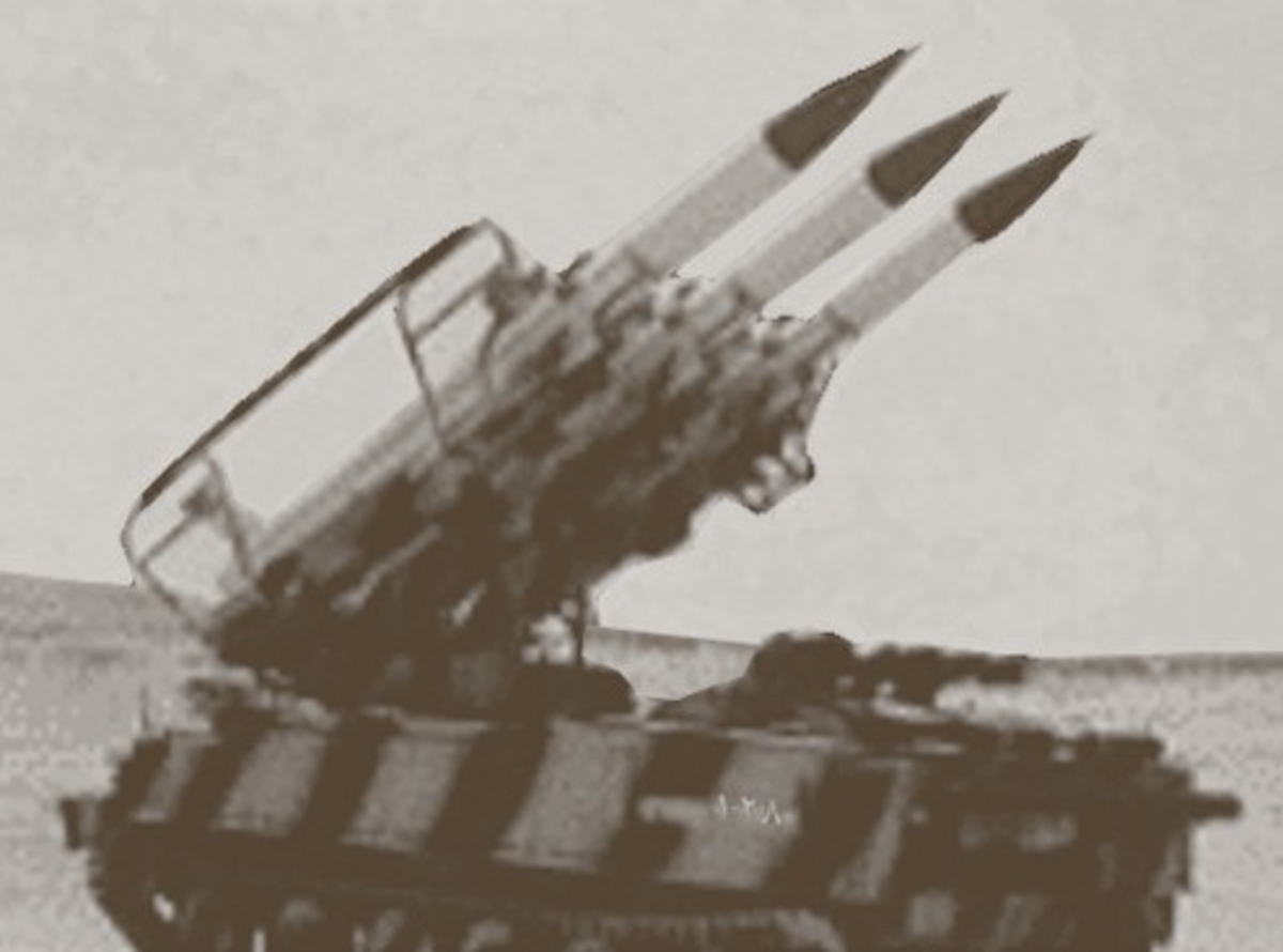 Egyptian SAM-6 missiles